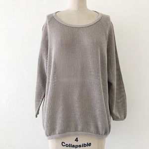 JAMES PERSE   Cotton Open Knit Popover Top